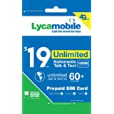 Lycamobile $19 Plan 1st Month Included SIM Card is Triple Cut Unlimited NATL Talk & Text to US Plus 75+ Countries 1GB of 4G L