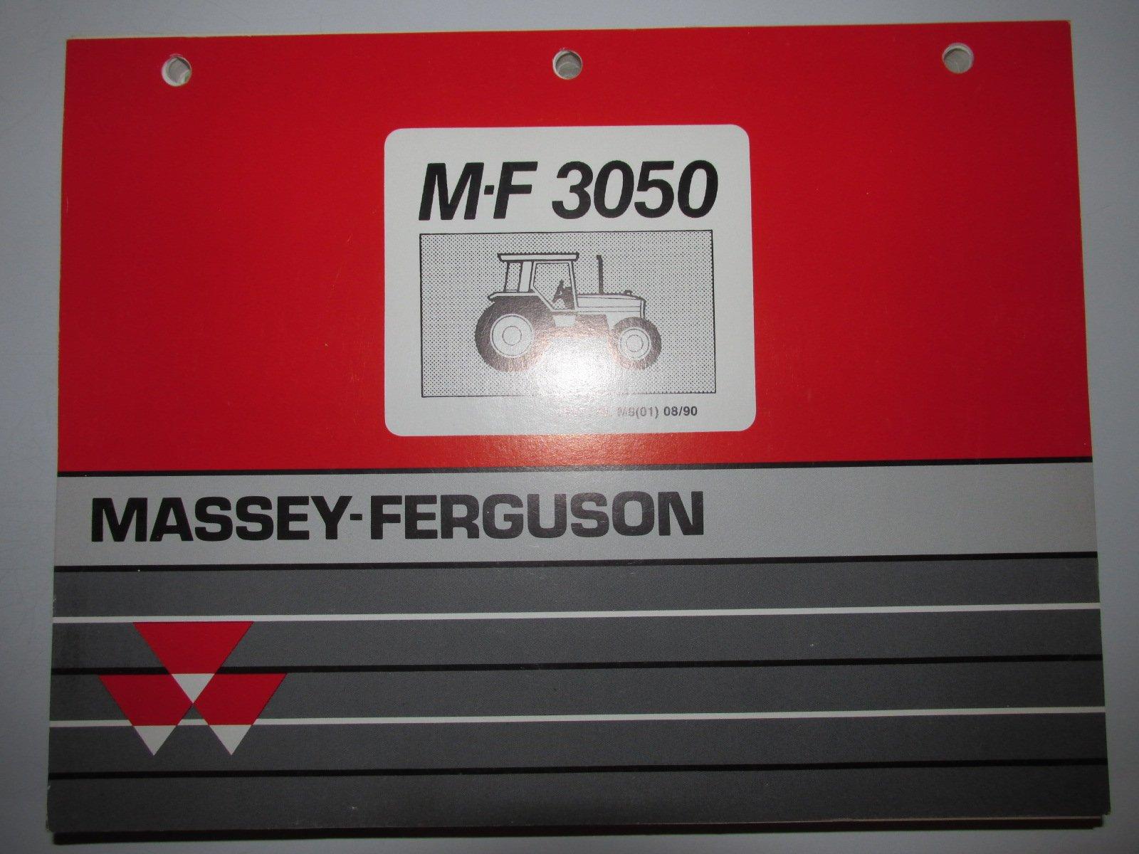 Massey Ferguson MF 3050 Tractor Parts Catalog Book Manual Original ...