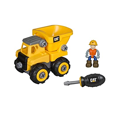 Toy State Caterpillar CAT Junior Operator Dump Truck Construction Vehicle: Toys & Games