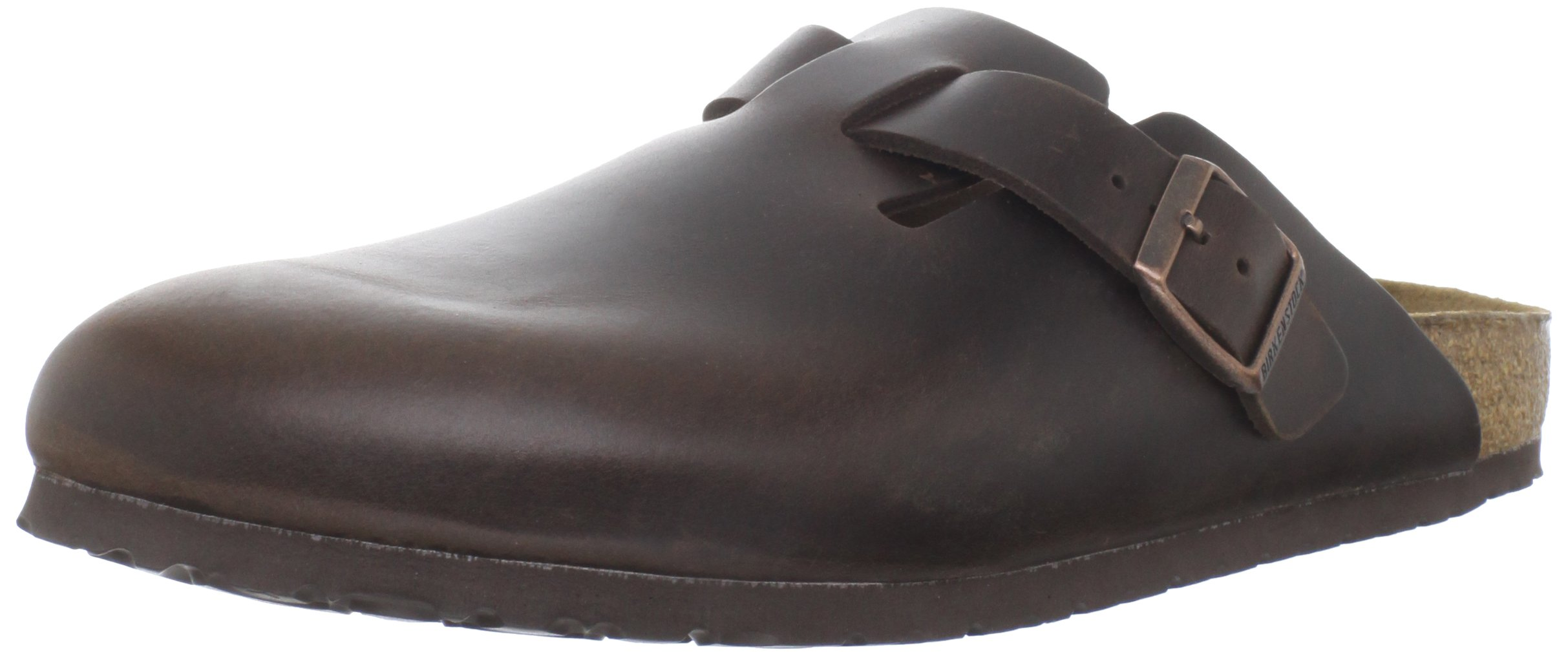 Birkenstock Unisex Boston Soft Footbed, Brown Amalfi Leather, 38 M EU