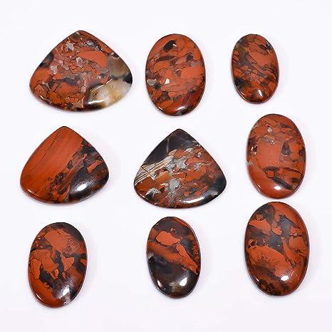 AAA Quality 100/% Natural Snakeskin Jasper Pear Shape Cabochon Gemstone Handmade Thread Jewelry Macrame Pendant 1.6 N-2868