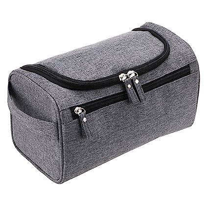9f2198409be2 Hipiwe Mens Toiletry Bag Organizer for Travel Water Resistance Cosmetic Bag  Hanging Dopp Kit Bag Portable Wash Gym Shaving Grooming Bag Bathroom ...