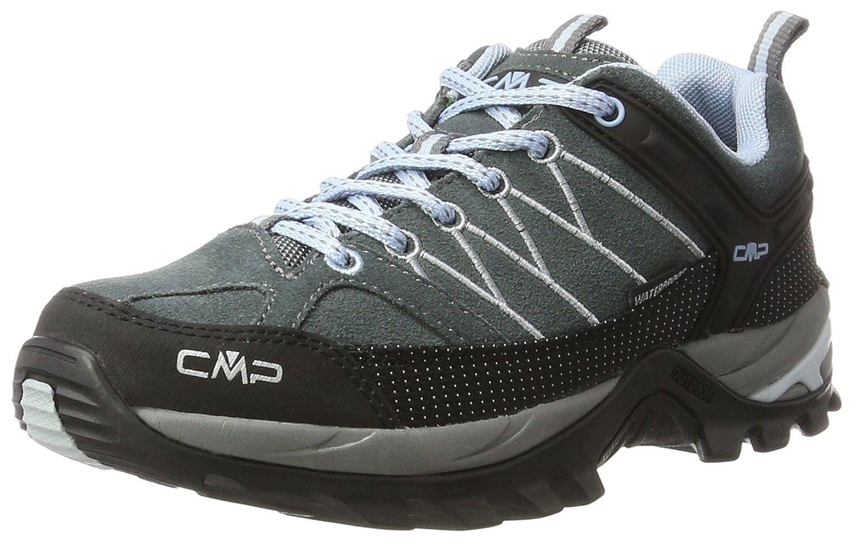 Noir (Graffite-azzurro 77bd) 38 EU CMP Rigel Faible, Chaussures de Randonnée Basses Femme