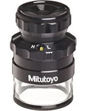 """Mitutoyo 183-304 Loupe with Reticle, 8x-16x Magnification.1mm.005"""" Scale Graduation"""