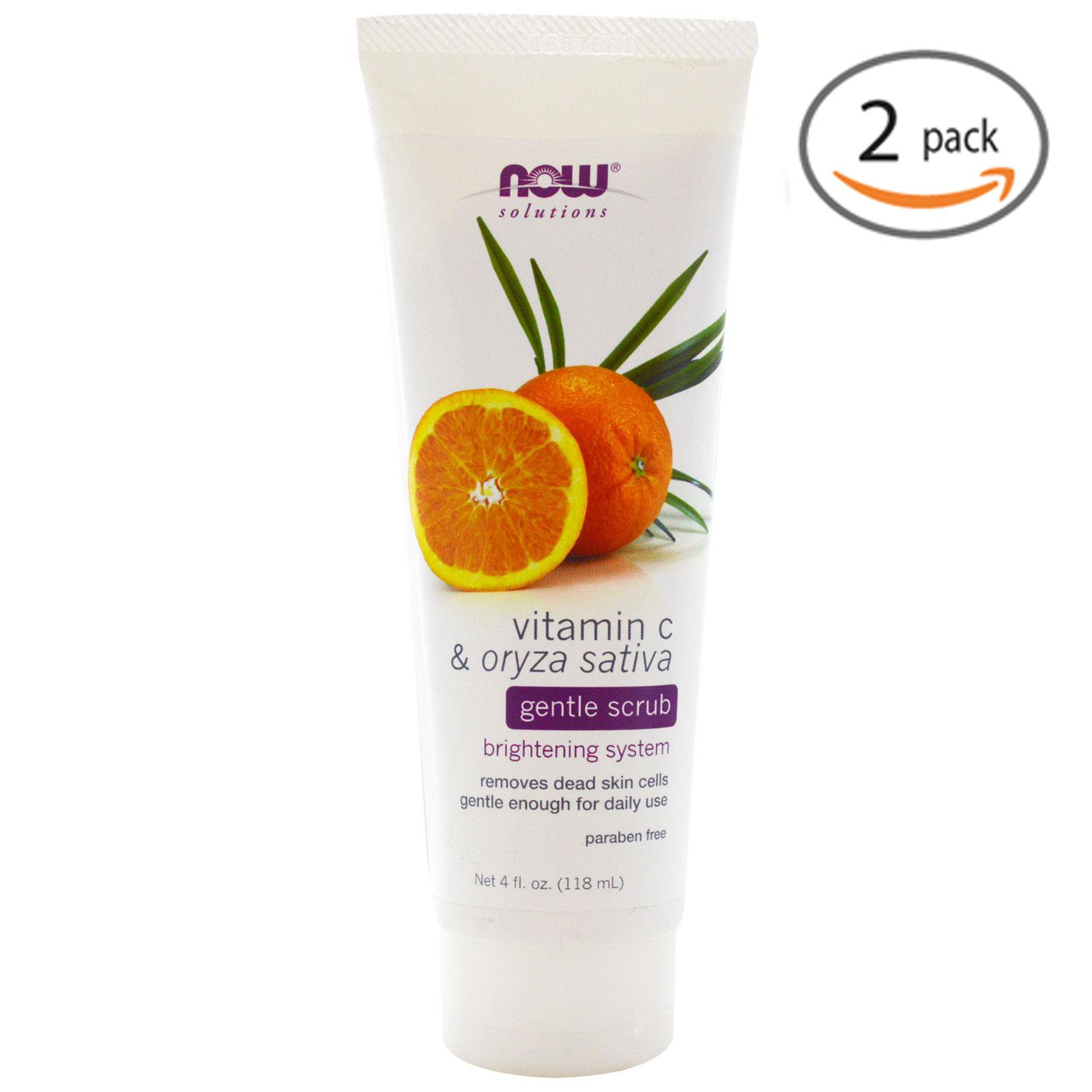 Purifying Toner Vitamin C & Acai Berry - 8 oz. by NOW Foods (pack of 4) Alba Botanica Good And Clean Daily Detox Foaming Cleanser - 6 Oz