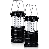 2-Pack Apolled 30-LED Collapsible Camping Lantern (Black)