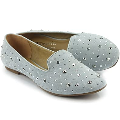 39 Damen Tamaris SlipperMokassinsNietendekorLight Tamaris Damen SlipperMokassinsNietendekorLight BlueGröße Nn80vmw