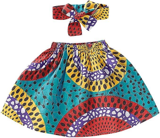 Moneycom - Falda Africana para bebé o niña, diseño étnico, Diadema ...