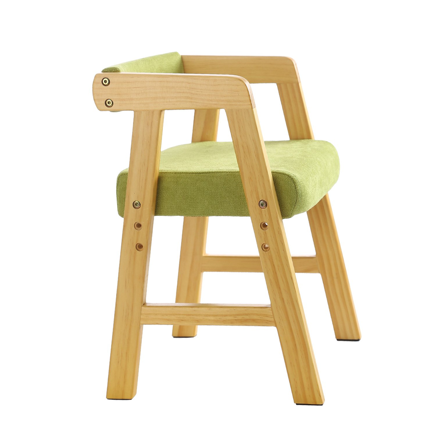 YouHi Kids Chair Wooden Chair for Toddlers Height-Adjustable Chair Comfortable Sponge Seat for Daycare Preschool Children's Room(Green) by YouHi