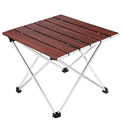 Camping Folding Table, Ledeak Portable Lightweight Foldable Compact Small Roll up Table with Carry Bag, Perfect for Outdoor, Camping, Picnic, Beach, Hiking, Easy to Install & Clean: Kitchen & Dining