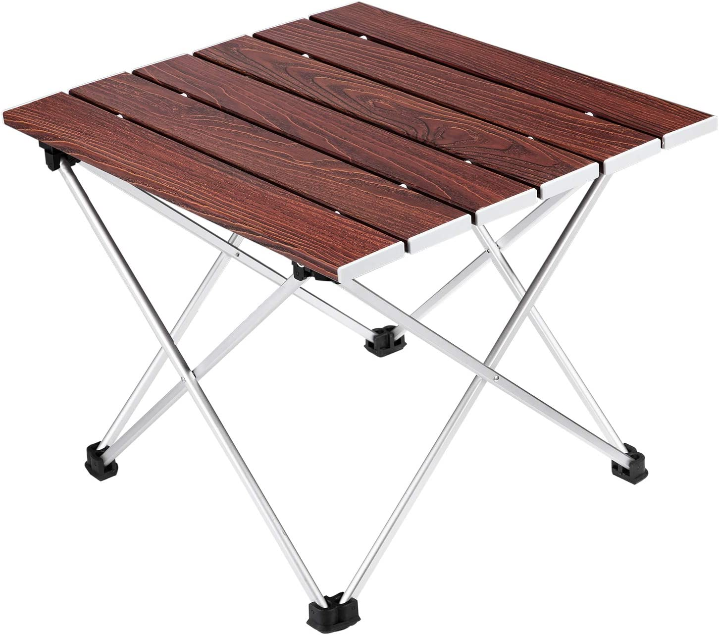 Ledeak Camping Folding Table, Portable Lightweight Foldable Compact Small Roll up Table with Carry Bag, Perfect for Outdoor, Camping, Picnic, Beach, Hiking, Easy to Install & Clean
