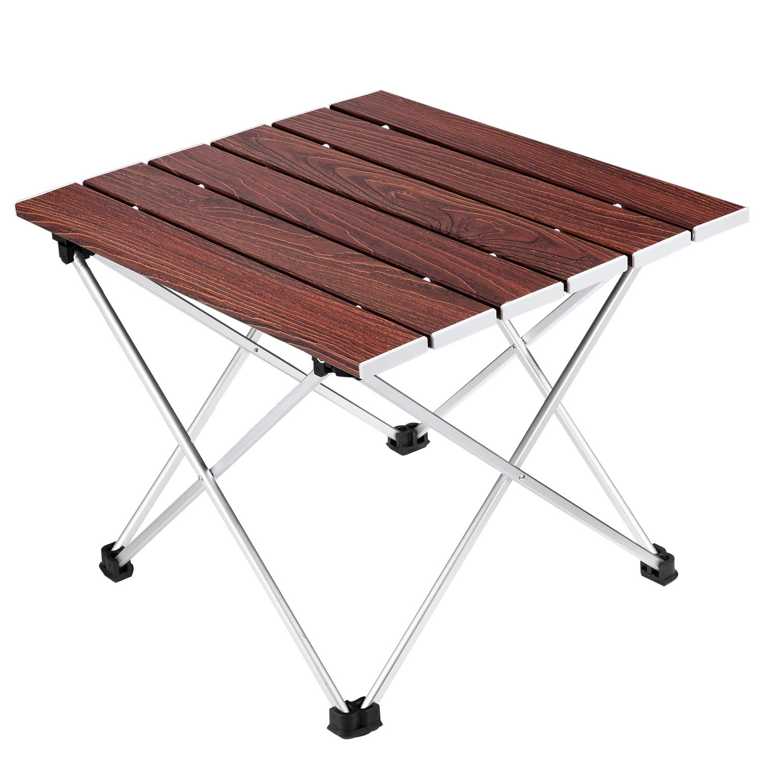 Ledeak Camping Folding Table, Portable Lightweight Foldable Compact Small Roll up Table with Carry Bag, Perfect for Outdoor, Camping, Picnic, Beach, Hiking, Easy to Install Clean