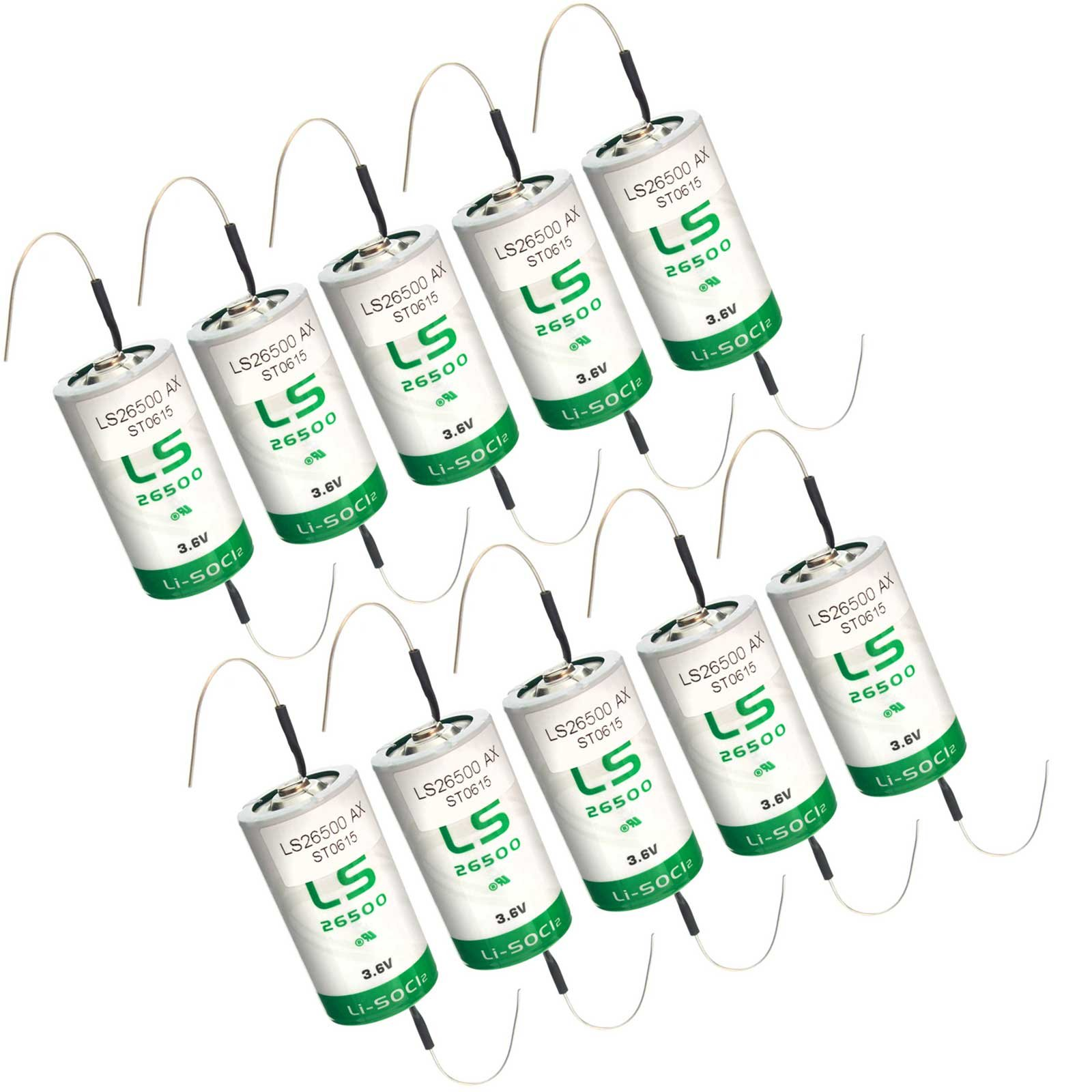 10x SAFT LS26500_AX Size C 3.6V 7700mAh Primary Lithium Cell for Xeno and more