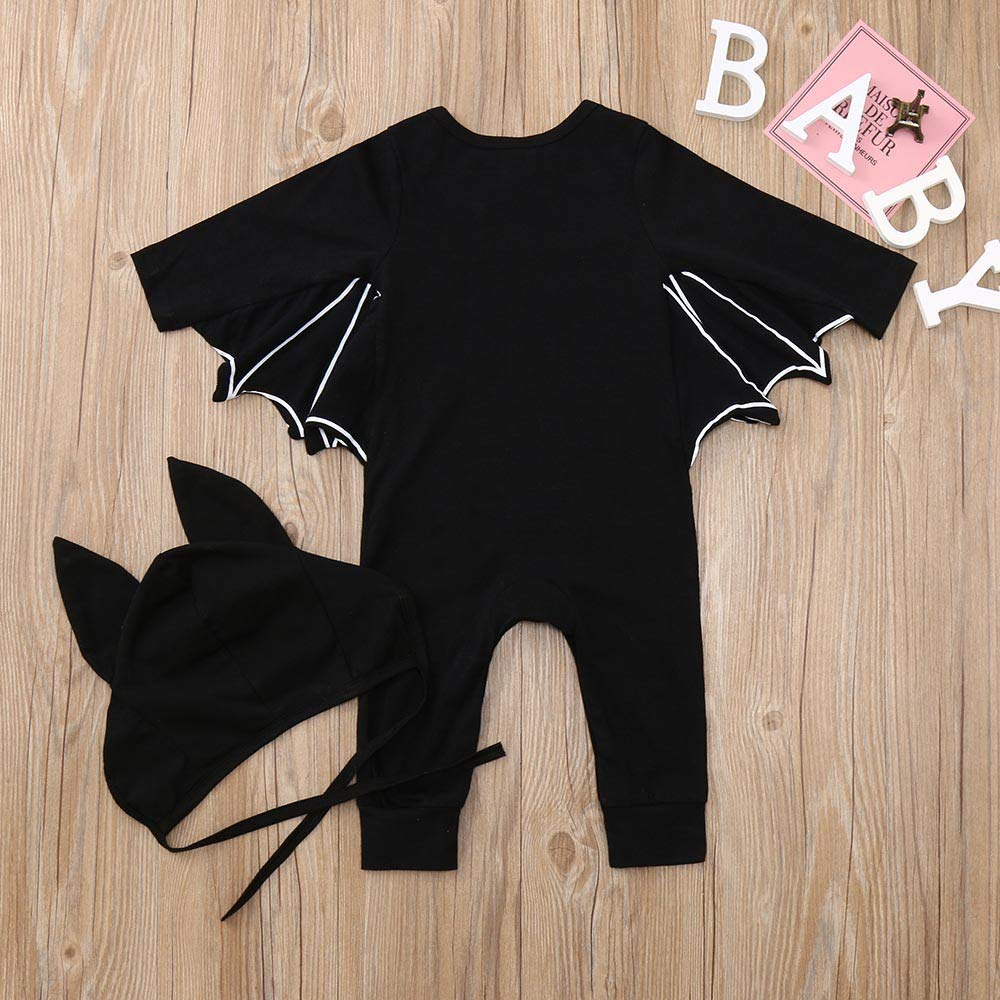 Weiyun Toddler Newborn Baby Boys Girls Halloween Cosplay Costume Romper Hat Outfits Set