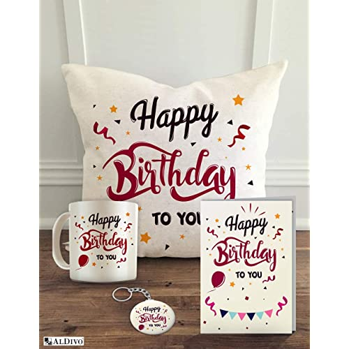 ALDIVO Happy Birthday To You 12 X Cushion Cover With Filler