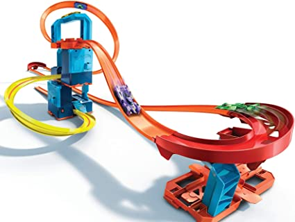 Amazon.com: Hot Wheels Track Builder Unlimited Ultra Stackable Booster Kit Motorized Set 5 Plus Configurations Stunt Parts Compatible id Gift idea for Kids 6 to10 and Older (GWT44): Toys & Games
