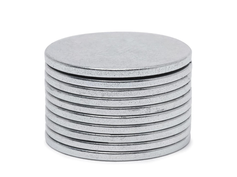 VBS Magnete Extra stark 10 Stück 1,5cmx1mm silber