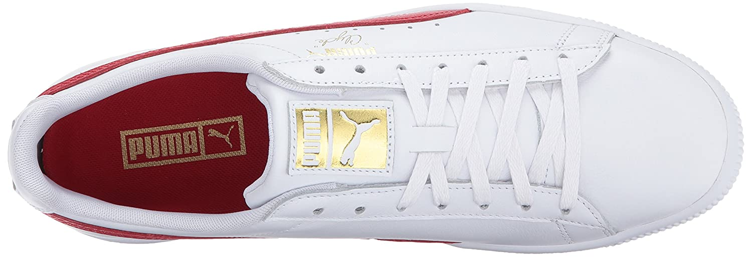 Puma Herren Clyde Turnschuh, WhiteBlack Team Gold: Amazon