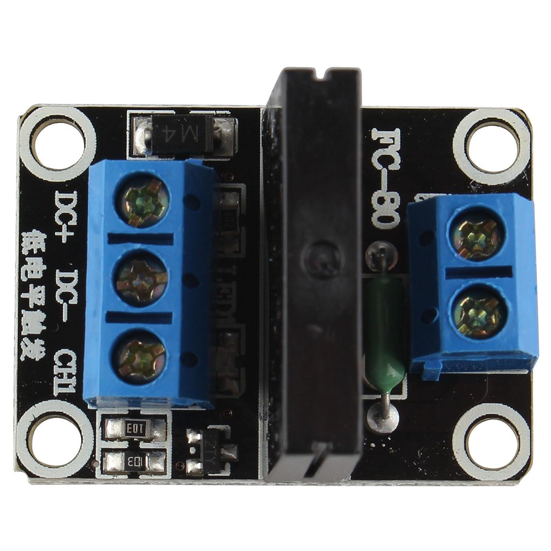 Haljia 1 Channel 5v Solid State Relay Module With Resistive Fuse For Dc Board High Level Arduino Uno Duemilanove Mega2560 Mega1280 Raspberry Pi Arm Dsp Pic