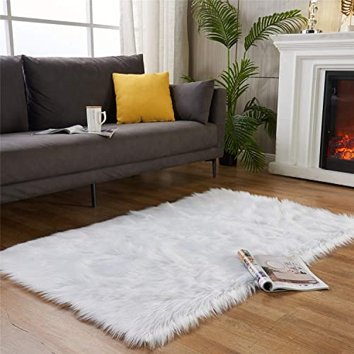 EasyJoy Ultra Soft Fluffy Rugs Faux Fur Rug Chair Cover Seat Pad Fuzzy Area Rug