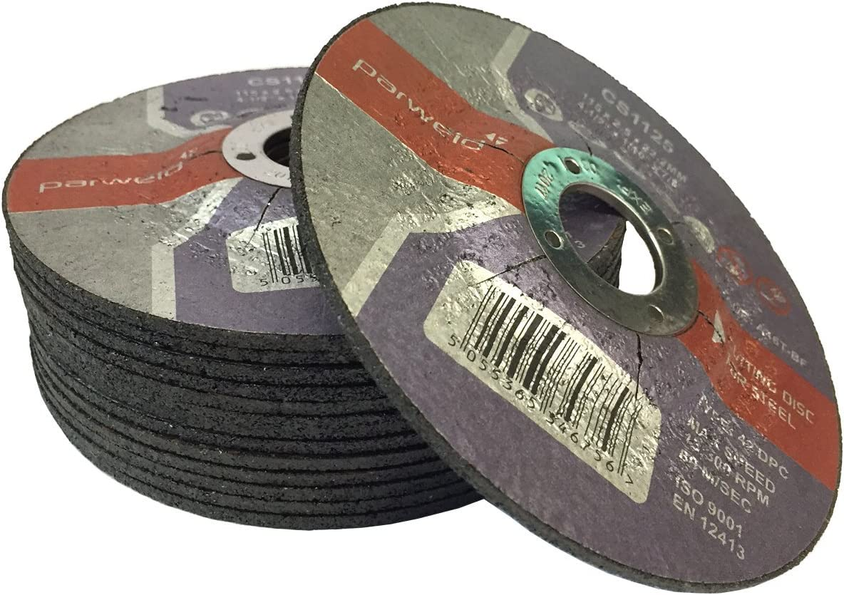 Parweld 115 x 2.5mm Steel cutting discs 4.5 metal cutting discs PACK OF 100