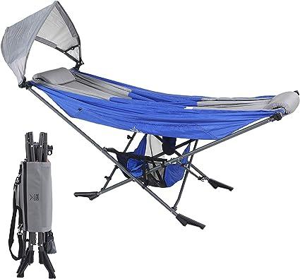 Amazon Com Mock One Indoor Hammock Stand Portable Folding Self