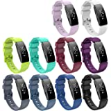 KingAcc Compatible Fitbit Inspire Bands, Soft Silicone Replacement Band for Fitbit Inspire,Inspire HR, with Metal Buckle…