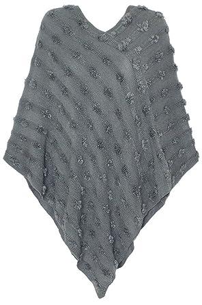 d6bb0aad850844 dy_mode Eleganter Damen Poncho Pullover Strickponcho im Punkt-förmigen  Strick-Muster u.v.m. - 5
