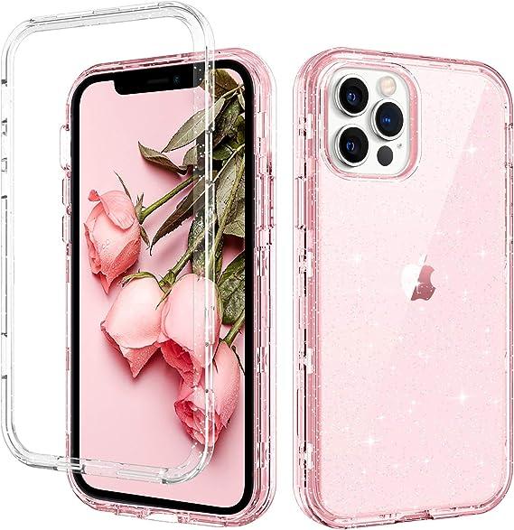 GUAGUA Phone Case for iPhone 12 Pro Max Case Translucent Pink