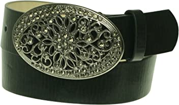 Style&co. Distressed Rhinestone Womens Belt Black Small