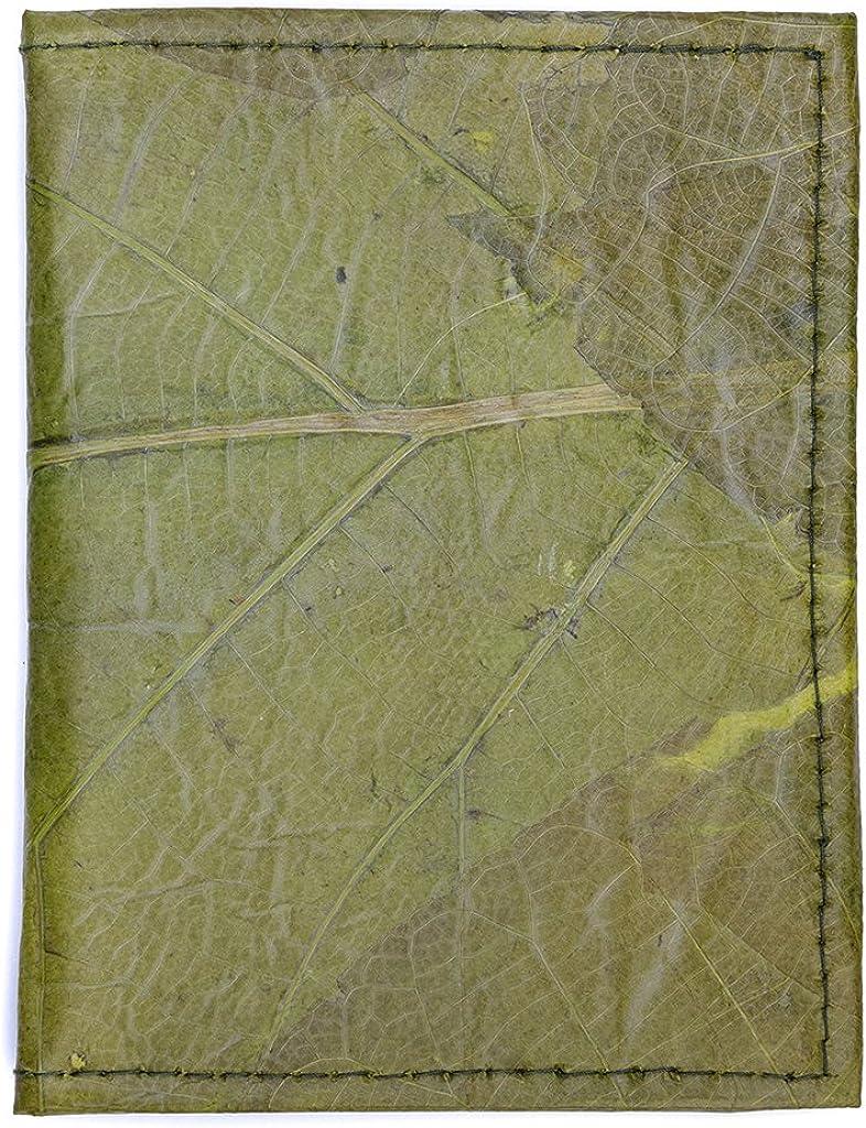Flip Fold Slim Design Leaf Leather Travel Wallet Handmade Passport Holder Cover
