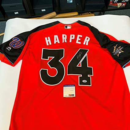 Bryce Harper Signed 2017 All Star Game Washington Nationals Jersey ...