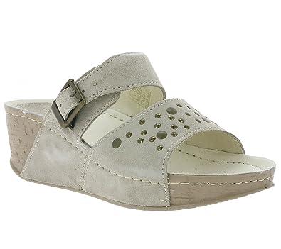 Pantoletten Schuhe Damen Comfort Echtleder Seklo By DrFeet EDH9WY2I