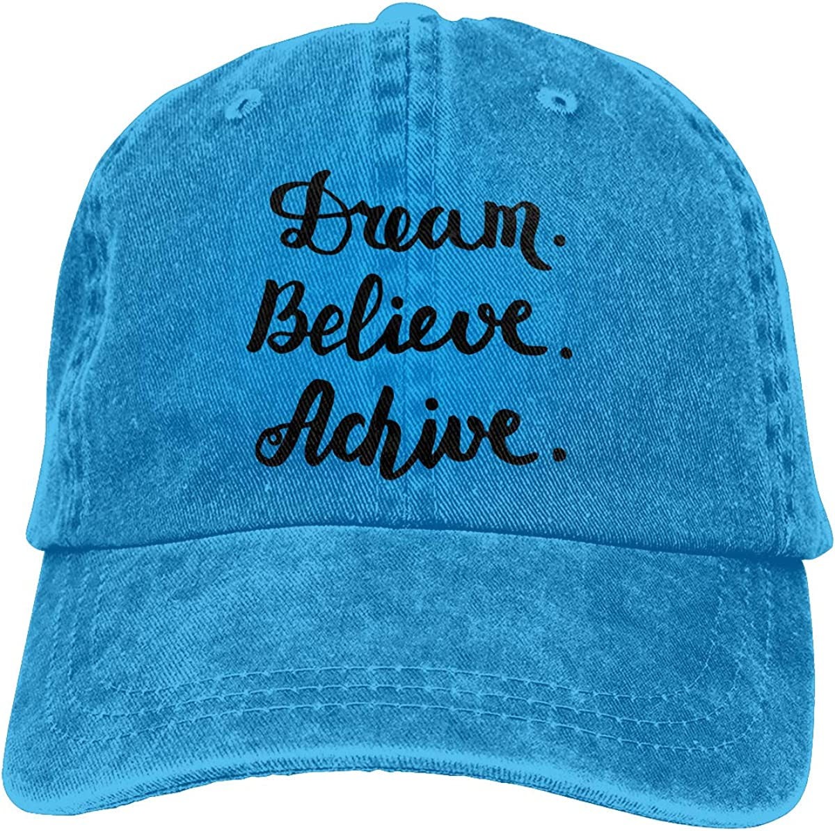 PMGM-C Dream Believe Achieve Unisex Trendy Cowboy Casquette Adjustable Baseball Cap