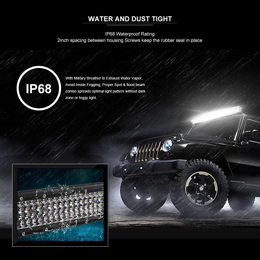 Led Light Bar Autofeel 7 Inch White Work Spot Emergency Lighting Wiring Diagram Besides Car Electrical Flood Beam Out Road Lights Driving With Slide Mounting Brackets And