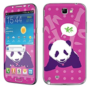 Samsung [Galaxy Note 2] Phone Skin - [SkinGuardz] Full Body Scratch Proof Vinyl Decal Sticker with [WallPaper] - [Pink Panda Bamboo] for Samsung Galaxy [Note 2]