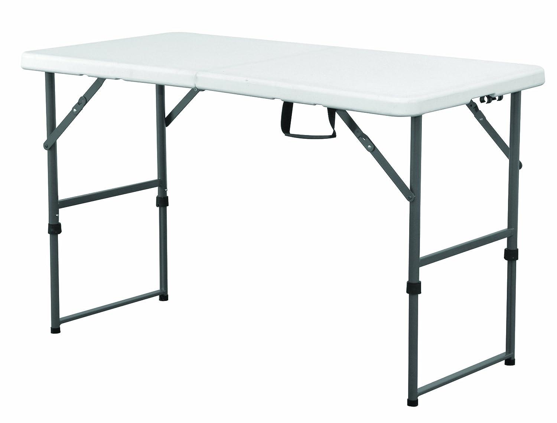 EazyGoods 4 Foot Folding Plastic Trestle Table, White, 120 x 60 x 74 cm Eazy Goods Ltd 4FT