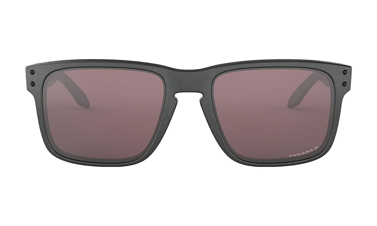 Oakley Mens Holbrook Sunglasses (Steel/Prizm Daily Polarized, One Size) Metal Vault Sunglass Case (Silver)