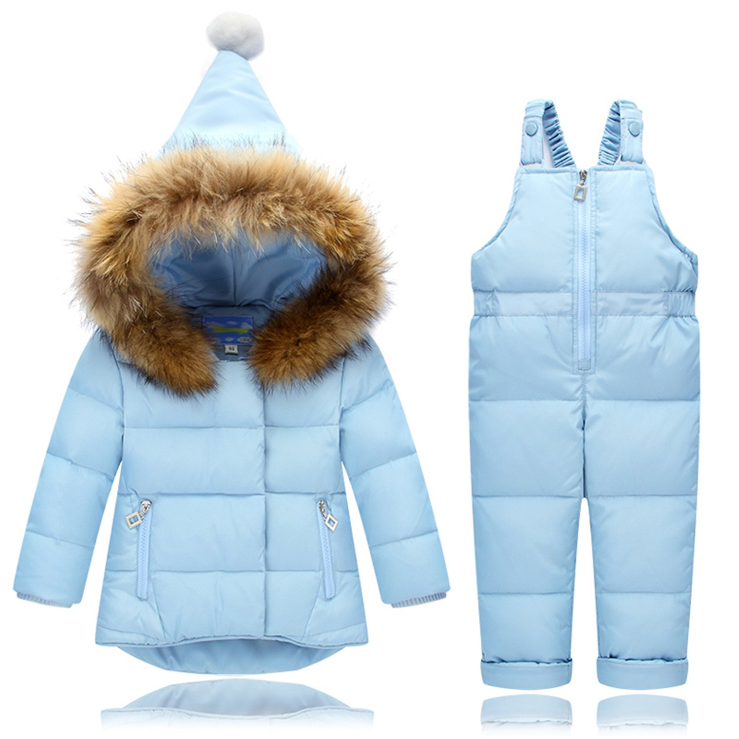 Mofgr Boys Girls Winter Down Coat Children Warm Jackets Toddler Snowsuit Outerwear +Romper Clothing Set