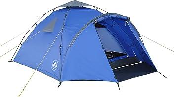 Lumaland Outdoor Pop Up Familienzelt Wurfzelt 3 Personen Zelt Camping Festival 220 x 220 x 130 cm