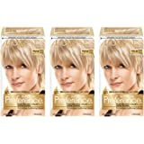 L'Oreal Paris Superior Preference Fade-Defying + Shine Permanent Hair Color, 9.5N Lightest Natural Blonde, Pack of 3…