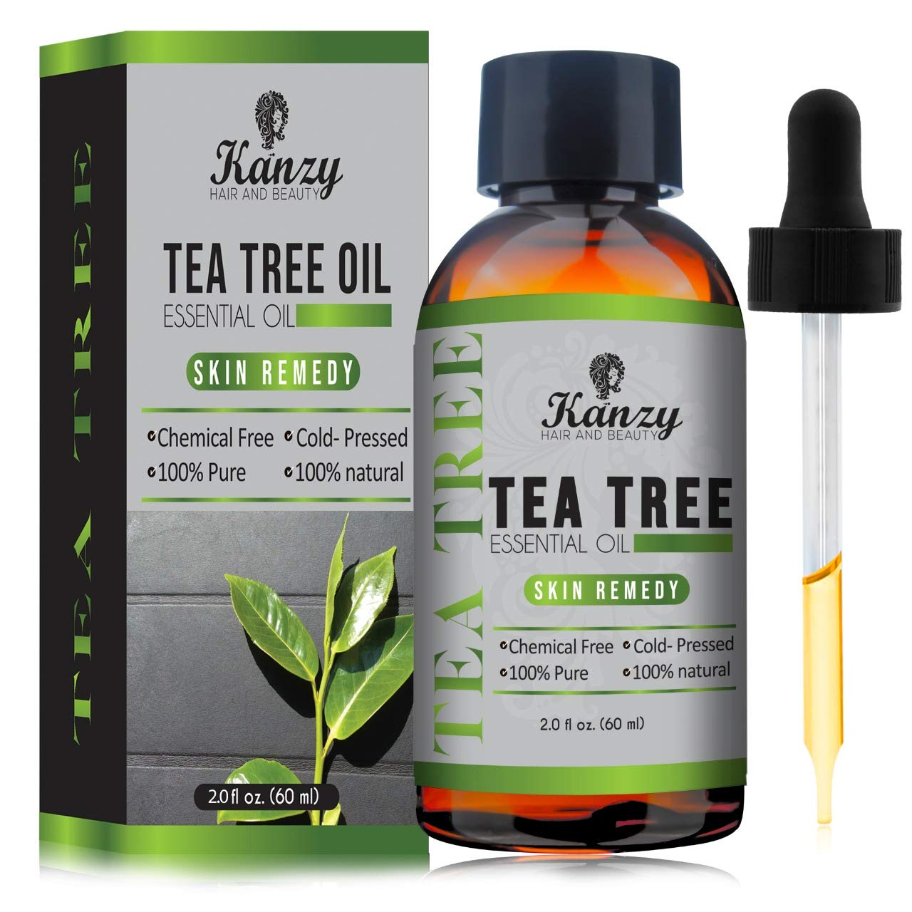 Olio di Albero del Tè | Tea Tree Essential Oil - 100% Essenziale Pure.(60ml) KANZY HAIR AND BEAUTY