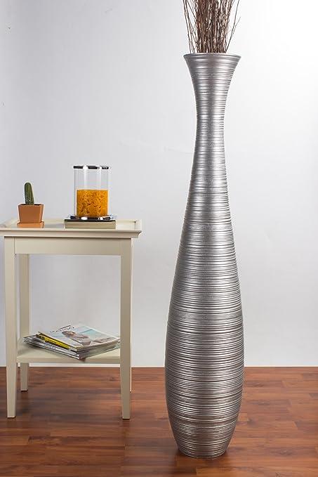 Amazon Leewadee Tall Floor Vase 44 Inches Wood Silver Home