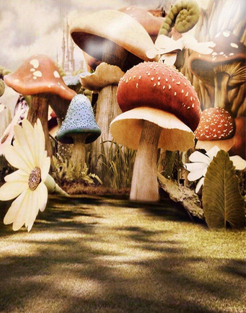 A Monamour Enchanted Fairy Tale写真の背景幕for Kids Portrait写真背景Studio小道具Mushrooms Land   B01N001DUQ