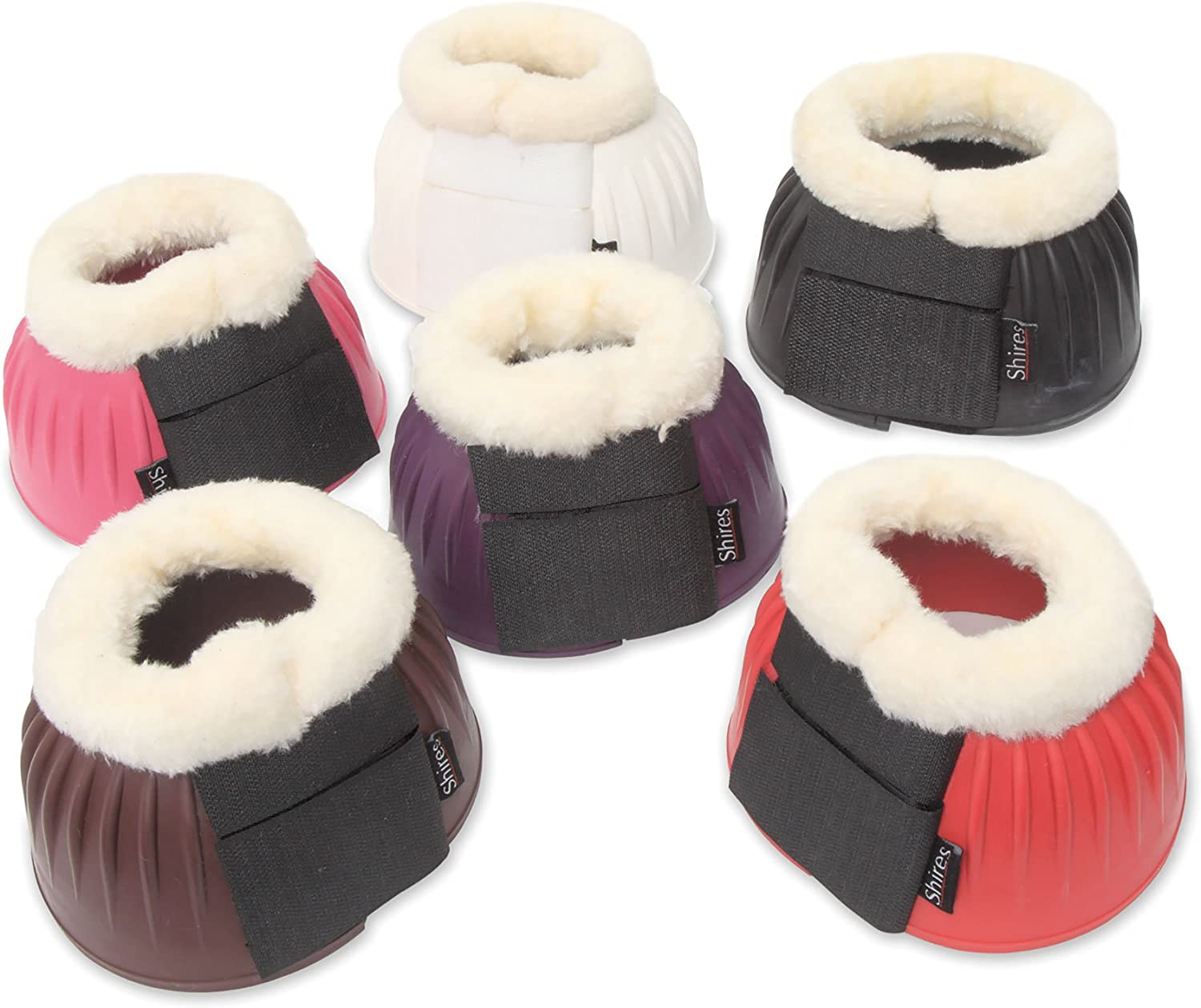EXTRA FULL **ALL COLOURS** Shires Fleece Topped Over Reach Boots PONY