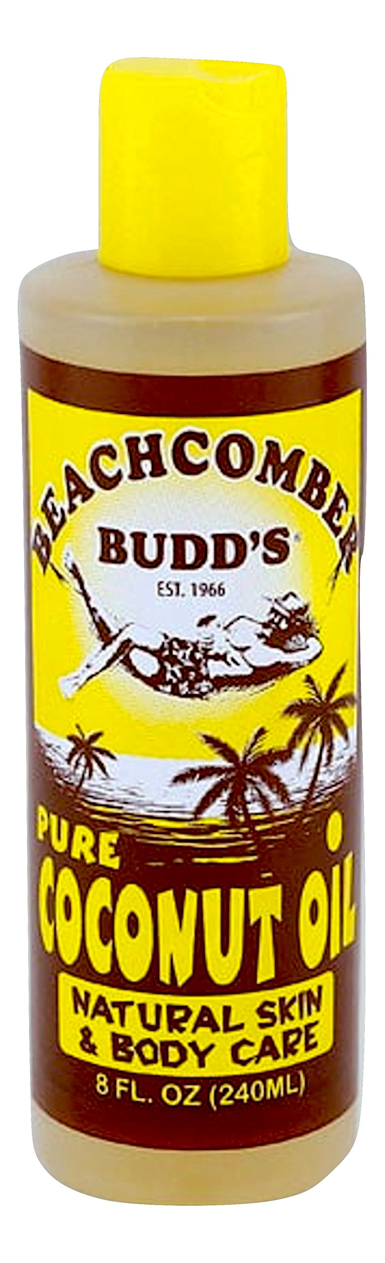 Hawaiian Beachcomber Budd Pure SCENTED Coconut Oil 8 oz