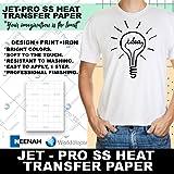 "JET-PRO®SS JETPRO SOFSTRETCH HEAT TRANSFER PAPER 8.5 X 11"" CUSTOM PACK 25 SHEETS"