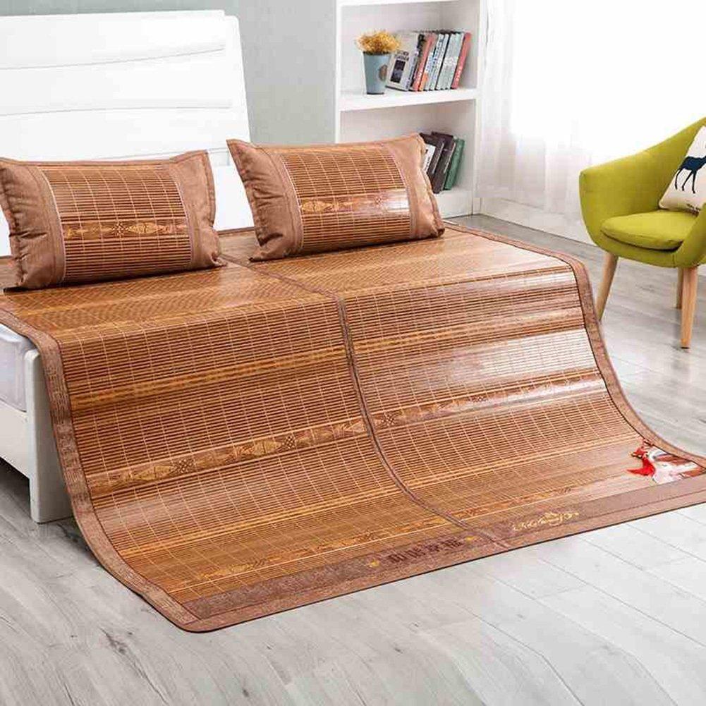 WENZHE Bambus Matratzen Sommer-Schlafmatten Strohmatte Teppiche Falten Zuhause Schlafzimmer Multifunktion, 3 Größen