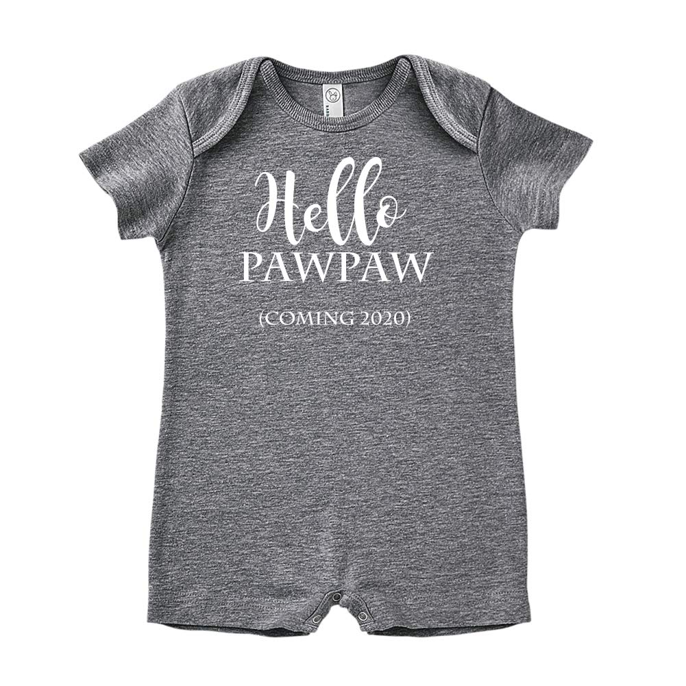 Coming 2020 Announcement Hello Pawpaw Baby Romper