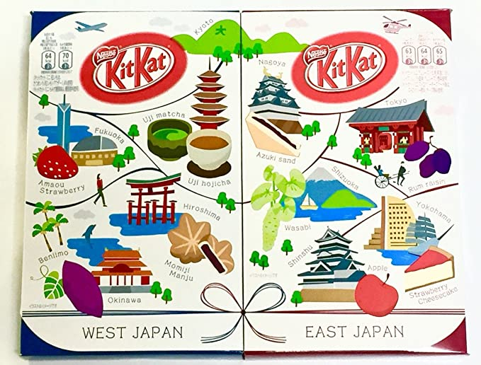 Japanese Candy Ninja Japanese Kit Kat [East Japan Edition Assort 12pcs] & [West